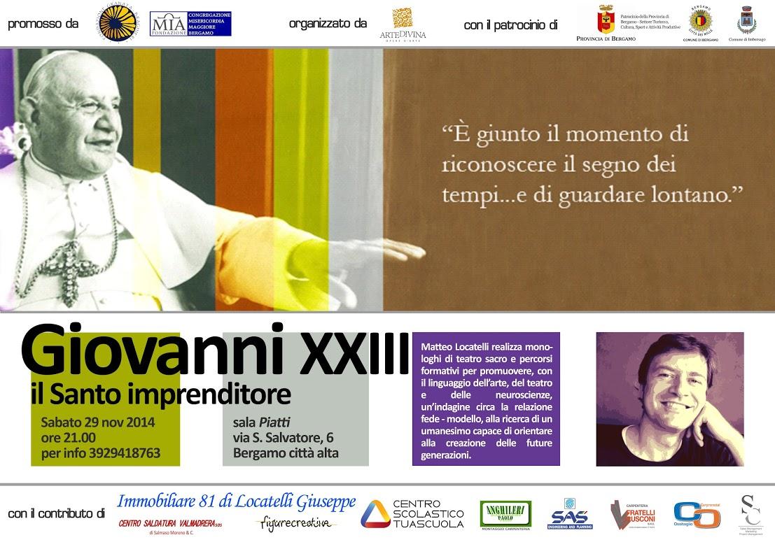 """Giovanni XXIII """"Il Santo Imprenditore"""""""