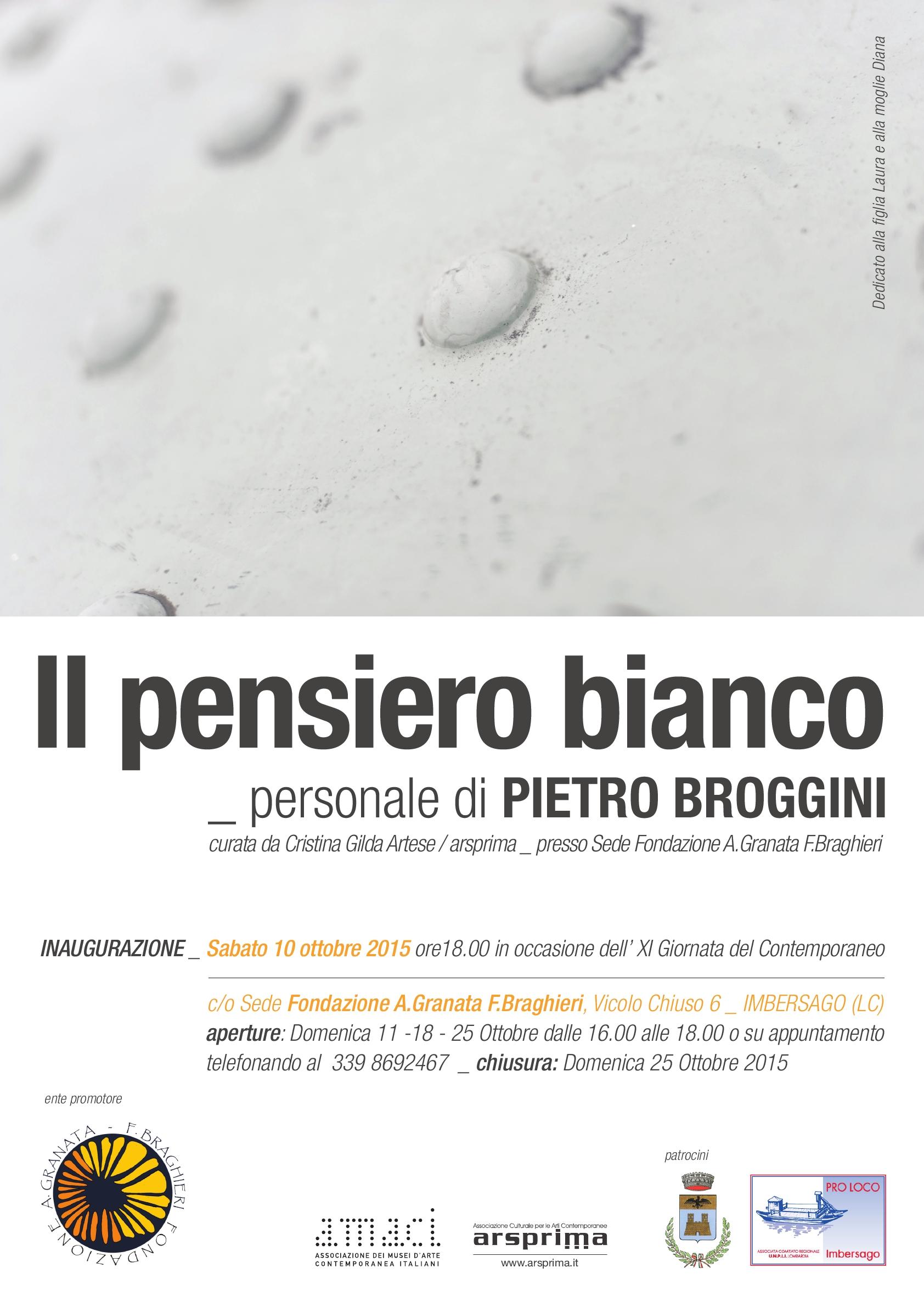 Il pensiero bianco di Pietro Broggini