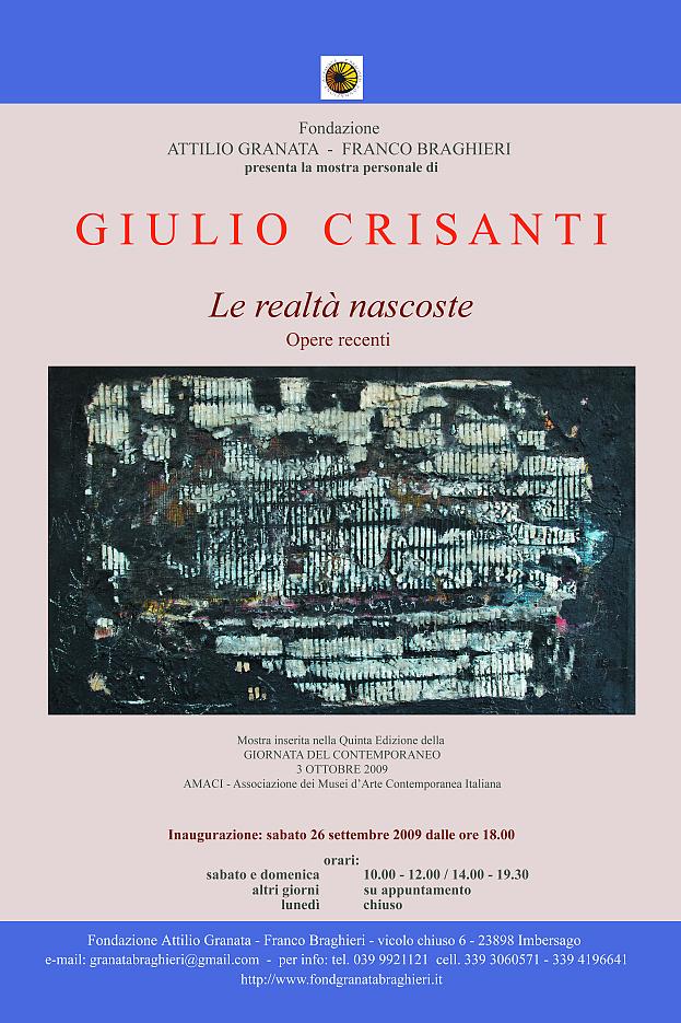 Le realtà nascoste di Giulio Crisanti