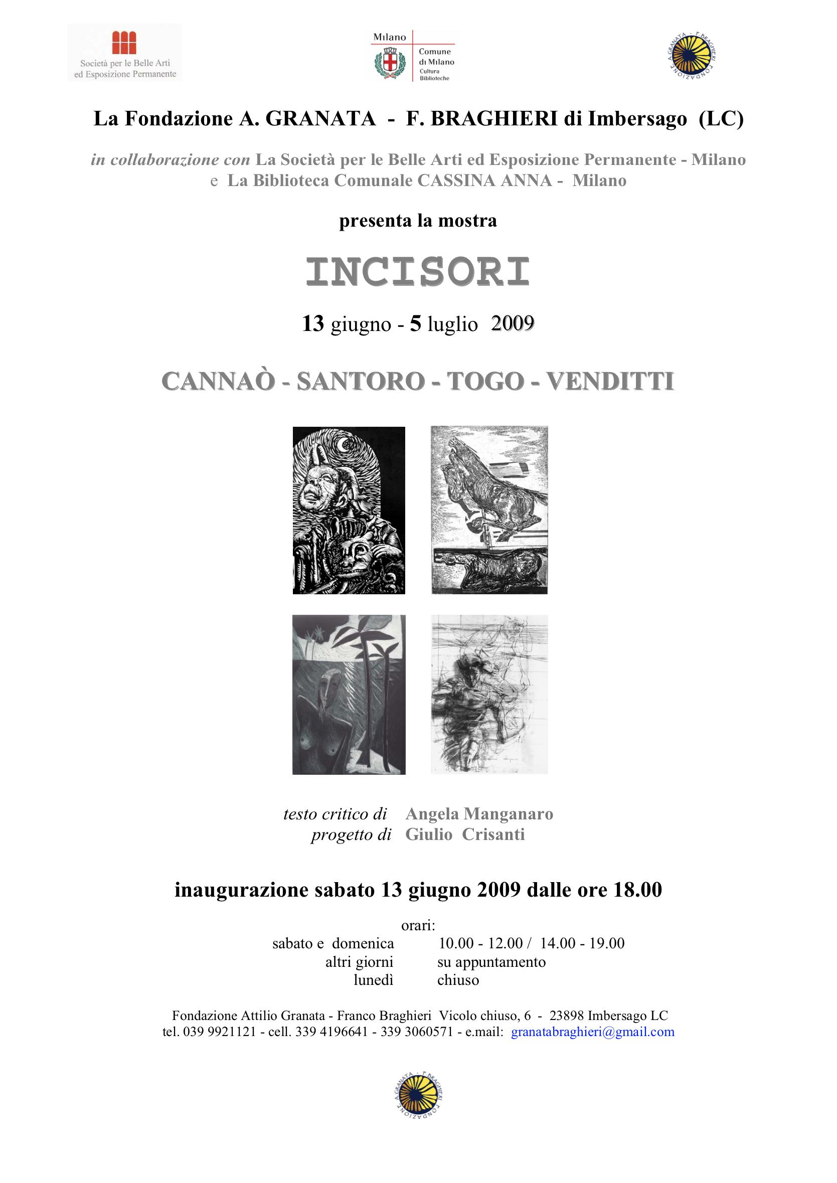 Incisori di Michele Cannaò-Tano Santoro-Togo-Alberto Venditti
